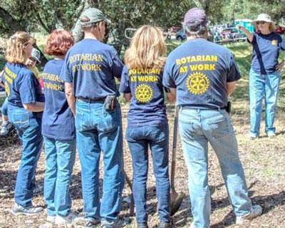 Covington Rotarians at Work